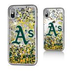 お取り寄せ MLB アスレチックス iPhone X ケース/カバー スパークル グリッター