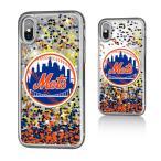 お取り寄せ MLB メッツ iPhone X ケース/カバー スパークル グリッター