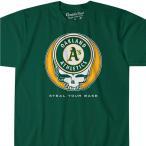 MLB オークランド・アスレチックス Tシャツ ユア ベース アスレティック ティール画像
