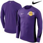 お取り寄せ NBA Nike/ナイキ レイカーズ エリート シューター パフォーマンス ロングスリーブ Tシャツ パープル【ナイキ期間設定】