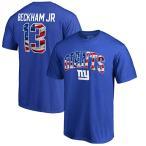 お取り寄せ NFL ジャイアンツ オデル・ベックハン・ジュニア バナー ウェーブ ネーム&ナンバー Tシャツ ロイヤル