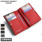 キャサリンハムネット 二つ折り 財布 極小財布 コンパクト ミニ カラーテーラード 490-51913 革 メンズ レディース