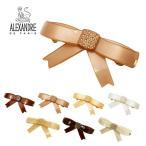 アレクサンドル ドゥ パリ クリップ ALEXANDRE DE PARIS リボン AA8-7663-04 ブランド ピンク アイボリー ベージュ 白 おしゃれ 可愛い 髪留め ヘアアクセサリー