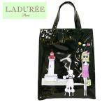 LADUREE【ラデュレ】ビニールトートバッグ La Tropezienne(L) Black