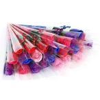 COSMOS_K ソープフラワー バラ ミックスカラー 花束 ラッピング済 プレゼント お祝い ギフト (ミックス5色, 50本)