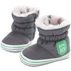 [L-Peach] 赤ちゃん 男の子 冬着防寒 ファースト シューズ キッズ 新生児靴 あったか シューズ 防水防寒対策 赤ちゃん ウォーキングシュー