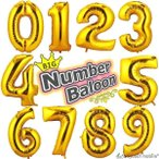 Yahoo!セレクトショップBT大きい 数字 誕生日 ビッグ バースデー バルーン 風船 お祝い 結婚式 パーティ イベント 豪華 飾り 飾り付け デコレーション かわいい ゴールド 90cm