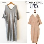 SALE50%OFF TODAYFUL トゥデイフル V Neck Knit OP ワンピース 11610313