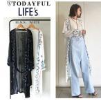 (4月中旬予約)TODAYFUL (トゥデイフル) LIFE's (ライフズ)  Embroidery Long Gown 刺繍ロングガウン 11710423(代金引換不可)/2017春夏