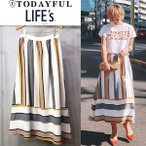 (6月下旬予約)TODAYFUL トゥデイフル LIFE's  ライフズ Multi Color SK マルチカラースカート 11710812(代金引換不可)/2017春夏