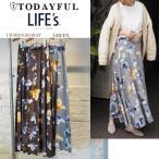 (7月上旬予約)TODAYFUL トゥデイフル LIFE's ライフズ  Flower Slit SK フラワースリットスカート 11710814(代金引換不可)/2017春夏