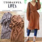 (10月下旬予約)TODAYFUL (トゥデイフル) LIFE's (ライフズ) Cache-coeur Knit Dress カシュクールニットワンピース 11720325(代金引換不可)