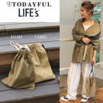 (10月下旬予約)TODAYFUL(トゥデイフル) LIFE's (ライフズ) Vintage Twill Purse ヴィンテージツイル巾着BAG 11721050(代金引換不可)