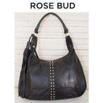 ROSE BUD ローズバッド タッセル×スタッズレザートートバッグ 162207