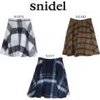 snidel スナイデル チェックウールフレアスカート swfs165153
