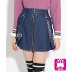PINK-latte / ピンク ラテ ハートチャーム付 前ZIPサス付 スカート