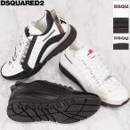 ディースクエアード スニーカー レザー DSQUARED2 メンズシューズ 靴 ホワイト ブラック SNM0505 065B0001 2021年春夏新作
