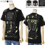 ハイドロゲン Tシャツ HYDROGEN メンズ 半袖 グラフィックプリント ホワイト×ブラック/ホワイト×ピンク/ブラック×イエロー T00130 2020年春夏新作