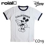 ROIAL・ロイアル/17SP/メンズ/ 半袖Tシャツ/DISNEY・ディズニーコラボ/BUCKWHEAT・CO-19/WHITExNAVY・ホワイト×ネイビー/S・M・Lサイズ/ミッキー/コラボTee