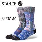 STANCE・スタンス/SOCKS・靴下・ソックス/18FA/JEAN-MICHEL BASQUIAT・ANATOMY/BLK・ブラック/L(25.5-29cm)/メンズ/ジャン=ミシェル・バスキア/CREW