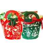 クリスマスお菓子 クリスマス会のお土産に たっぷり入ったクリスマスミニトートバッグ
