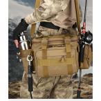 マルチフィッシングバック フィッシングバッグ タックルバッグ ヒップバッグ ショルダーバッグ ルアーケース 釣りバック 大容量 多機能 防水 アウトドア