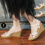 サンダル 厚底レディース 履きやすい 痛くない 歩きやすい 夏 美脚 靴 脚長 ウェッジサンダル 送料無料