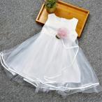ショッピング子供服 子ども服 子供ドレス 子供服 女の子 ワンピース キッズ ノースリーブ 花柄 ドレス ピアノ 発表会 七五三 結婚式 ホワイト ピンク ブルー
