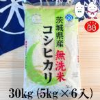 お米 BG無洗米 30kg(5kg×6) 茨城県産コシヒカリ 令和元年産