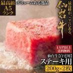 仙台牛 お取り寄せ A5ランク 牛肉 サーロインステーキ用 200g×2枚 ご自宅用