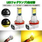 H1/H3/H7/H8/H11/H16/HB3/HB4 2色切替LEDヘッドライト・フォグランプ 6500k(ホワイト)/3000k (イェロー)60W 8000Lm スイッチで変更  ソールCSPチップ 2個