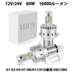 LEDヘッドライトH1/H4/H7/H8/H11/H16/HB3/HB4  新車検対応 CREE製 XHP50 LEDチップ搭載 16000LM 80W DC12V/24V 一年保証