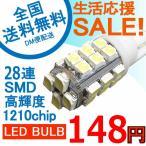 Yahoo!e-auto fun.特売セール LEDバルブ T10 28連SMD 1210チップ 6500K 110ルーメン 1本売り