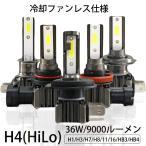 LEDヘッドライト H4 Hi/Lo 6000LM 45W DC12V-24V ワンタッチ取付 2個 一年保証 e-auto fun