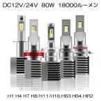 LEDヘッドライト フォグランプ H11/H8/H16 ワンタッチ取付 6000LM 45W 6500K DC12V-24V ホワイト 2個 一年保証 e-auto fun