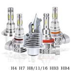 LEDヘッドライト SDK フォグランプ H4 H7 H8/H11/H16 HB3 HB4 12V 60W 16000ルーメン 6000K ホワイト/イエロー/アイスブルー 車検対応 ポン付け 2本 送料無料