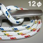 ヨットロープ 12mm×48打(3×16打)×1m 各色 Wブレードロープ 【東京製綱社製】