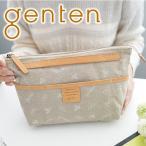 genten ゲンテン クロスパンチング インナースペース ポーチ(バッグインバッグ)・クラッチM 40883 人気