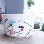 [韓国雑貨]かわいいネコ/一口ちょうだい ラーメン皿[可愛い][かわいい][韓国 お土産]