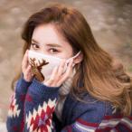 [韓国雑貨] 冬の動物たちが刺繍された ニット素材の優しいマスク《DEER》[ ファ…