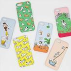 [韓国雑貨]-SSBA- アジャシのアイフォンカバー iPhone6s/6s+/7/7+≪選べる6タイプ≫[韓国文房具][可愛い][かわいい][韓国 お土産]