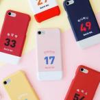 [韓国雑貨]背番号とお名前 スポーティーなオーダーメイドのスマホケース《iPhone/Galaxy》[名入れ][名前][文房具]