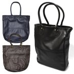 【3 COLOR】VANSON(バンソン)【MADE IN U.S.A】 LEATHER TOTE with 19inch HANDLE(アメリカ製 レザートート 19インチハンドル) TWILL LINED(ツイルラインド)