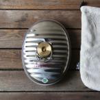 【湯たんぽ】 マルカ製ステンレス製湯たんぽ 2.2L(袋付き)