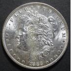 1888年  アメリカ、モルガン1ドル銀貨、XF