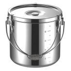 ラーメン特選 厨房用品 / KO 19-0電磁調理器対応給食缶 18cm 寸法: φ180 x H180mm 4.4L
