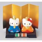 雛人形 ハローキティとひなまつり ミニ雛 [キティ4cm・ダニエル4.2cm] 雛祭り 桃の節句 かわいい プレゼント