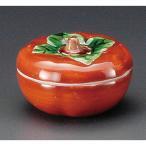 ☆ 蓋付珍味 ☆ 柿珍味赤 [ 62 x 40mm ] 【料亭 旅館 和食器 飲食店 業務用 】