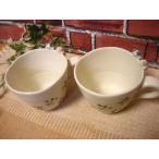 送料無料 和食器仲良しねこちゃんマグカップ2個 陶器 和風 食洗器可