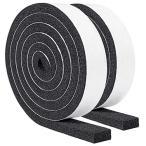 すき間テープ 窓用エアコン防音 防水 厚手静音テープ 気密防水パッキン25mm (幅) x 12mm (厚さ) x 2m(長さ) x 2本
